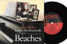 "BETTE MIDLER - UNDER THE BOARDWALK (BEACHES) - 7"" 45 VINYL RECORD w PIC SL- 1988"