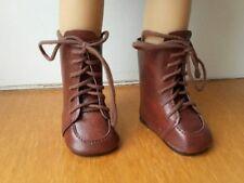 Chaussures bottes marron 6.5 x 3.5 à lacets pour poupée LESLIE BELLA accessoire