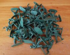 Vintage Lot of 39 Small Green Army Men Plastic Soldiers Toys (Unmarked)