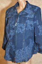veste tailleur jeans femme T 44 TBE marque Christine Laure