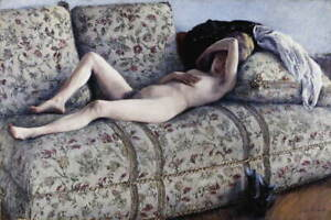 Gustave Caillebotte Nude On A Couch Giclee Art Paper Print Poster Reproduction