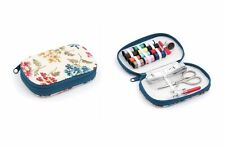 S&W Fairfield Floral Sewing Kit - Zip Case with Needles Thimble Thread