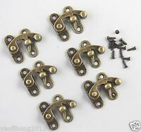 6x Swing Hook Clasp For Leather Craft Wood Crafting Case Box with Screw 38*43mm