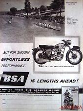 1958 Motor Cycle ADVERT - B.S.A. '500cc Shooting Star' Print AD Henley Regatta