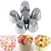 6Pcs/Set Flower Icing Piping Nozzles Cake Decoration Tips Pastry Baking Tool.