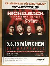NICKELBACK  2018  MÜNCHEN - orig.Concert Poster -- Konzert Plakat  A1 NEU