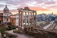 Sunrise over Roman Forum Rome Italy Photo Art Print Poster 24x36 inch