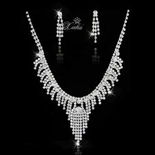 European Style Jewelry Sets Bridal Wedding Swarovski Crystal Necklace Earring