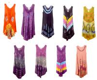 Indian Bohemian Tie Dye printed Sleeveless beach cover up Sun Dress