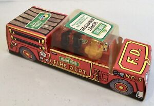 Sesame Street Vintage Puppets 1970s Child Guidance Topper Fire Truck Toy 1975