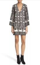 Nwt! Alice + Olivia Katt Embroidered Boho Kaftan Mini Dress Xs  Blogger Pick