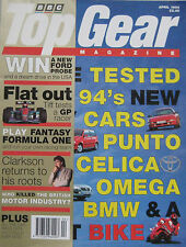 Top Gear 04/1994 featuring Maserati, Aston martin, Rover, VW, Vauxhall, Ford
