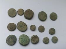 More details for lot of 15 uncleaned ancient greek bronze coins 300-200 b.c.