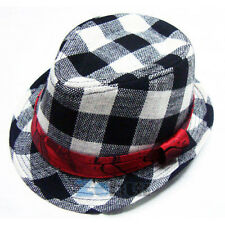 Toddler Kid Baby Fedora Hat Jazz Cap Photography Cotton Trilby Top Cap Style 2