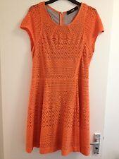 Lovely Ladies Cut25 By Yigal Azrouël Orange & Grey Cap Sleeve Short Dress-Size L