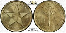 CONGO 1952 5 Franc Brass, PCGS MS64 Circulation Strike (Ruanda/Urundi)