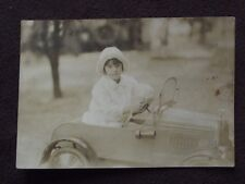 YOUNG GIRL RIDING FANCY PEDDLE CAR VTG  PHOTO