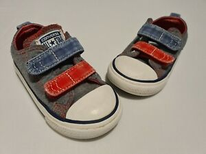 Converse Boys Infant Blue & Red Size 7 Trainers