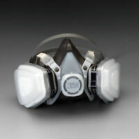 Paint Respirator Mask Large Spray 3M Solvent Particulate Vapor Gas Dust Oil