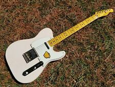 FLAMED Maple Neck - Squier Classic Vibe '50s Telecaster Guitar White Blonde
