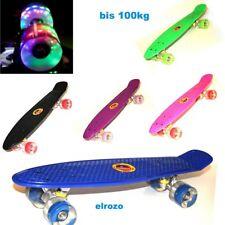 """LED 22"""" Mini-Skateboard Funboard Penny-board Kinder-Spielzeug 57cm bis 100kg"""