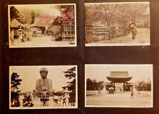 KOBE JAPAN 11 POSTCARDS LOOSE AND GLUED TO ALBUM PAGES 1920'S HAND COLORED