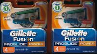 Gillette Fusion Proglide Power Shaving Blades 8 piece NEW Genuine German made