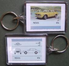 1966 ALFA ROMEO GTA Car Stamp Keyring (Auto 100 Automobile)