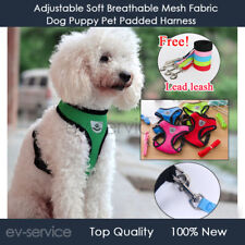 Soft Comfortable Mesh Breathable Fabric Dog Puppy Pet Adjustable Harness + Rope