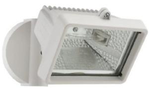 Wall-Mount Outdoor White Mini Flood Light by Lithonia Lighting OFLM 150Q 120 LP