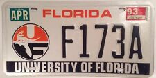 UNIVERSITY OF FLORIDA GATORS UF license plate Alberta NCAA Gainesville Gator