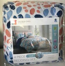 Interiors by Design 4 Piece Marlana Printed Design Queen Comforter Set