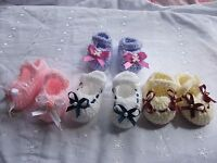 Baby crochet pattern,for booties, Newborn, 0-3 and 3-6 months in DK. Reborn.