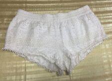 Forever 21 Ivory Crochet Shorts Size L