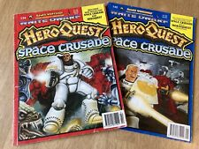 WHITE DWARF games workshop magazine Issues 134 & 145 HEROQUEST SPACE CRUSADE