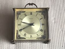 Vintage Smiths Dominion Brass Clock - 8 Day Wind Up Movement - Spares/Parts