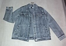 Crossroads: Size: 12-14. Modern Blue-Freeze, 4 Pockets Metal-Button Denim Jacket