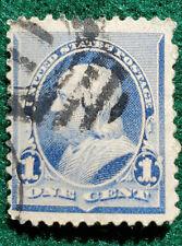 1894 Benjamin Franklin 1 Cent Dull Blue #219 Stamp - used