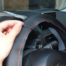 DIY Leather 36cm / 14'' Car Auto Steering Wheel Cover Non-Slip w/ Needle Thread