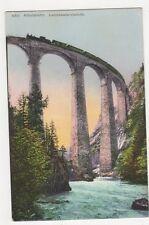 Switzerland, Albulabahn, Landwasserbiadukt Postcard, B370