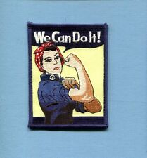 WE CAN DO IT ROSIE ROSEY THE RIVETER WW2 Squadron Unit Morale Jacket Patch