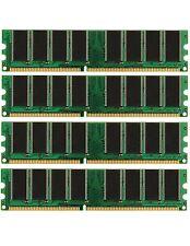 NEW! 4GB 4X 1GB DDR PC3200 4 GB PC 3200 LOW DENSITY DESKTOP MEMORY RAM DUAL KIT