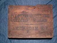 VINTAGE 1920 CASE'S BOTTLING AMSTERDAM NY WOOD SODA BOX