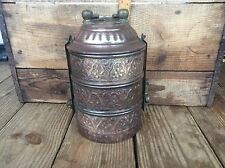 Vintage Ornate Copper / Brass ? Bento Box , Unbranded Stunning Piece