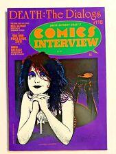 COMICS INTERVIEW #116 DEATH THE DIALOGS GAIMAN RARE HTF 1992