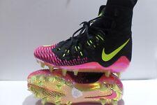 Nike Force Savage Elite TD Football Cleats Size 9 Black Volt Pink 857063 076