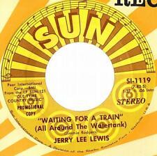 "JERRY LEE LEWIS  SINGLE  PROMO  SUN  SI-1119   "" WAITING FOR A TRAIN ""  [USA]"