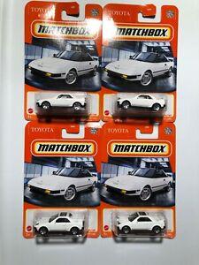 MATCHBOX 2021 #14 NEW MODEL 1984 TOYOTA MR2 ALL 4 VARIATIONs !  Lot Of 4