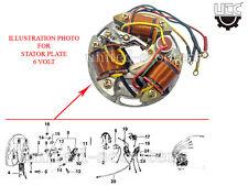 Vespa VBB VBA VLB VBC VNA VNB Super Stator Plate 6 Volt 5 Wires V8092 Free P&P