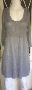 SELECT Women's Silver Knit Jumper Dress Size 12